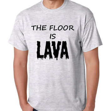 Men's T Shirt The Floor Is Lava Game Popular Hot Tee Funny Gym