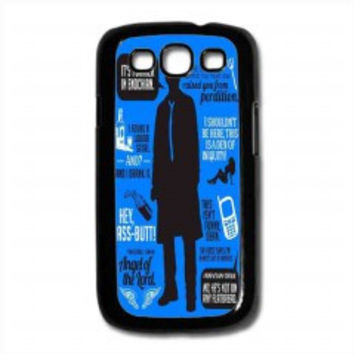 Cas Quotes Supernatural for samsung galaxy s3 case