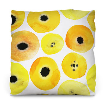 Mellow Yellow Outdoor Throw Pillow