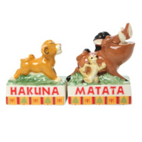 Disney The Lion King Hakuna Matata Salt & Pepper Shakers