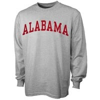 Alabama Crimson Tide Vertical Arch Long Sleeve T-Shirt - Gray