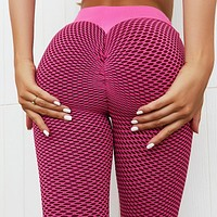 New Fashion Solid Color Stitching Yoga Pants Sports Tight Fitness Yoga Pants