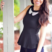 The Penelope Top: Midnight Black | Hope's