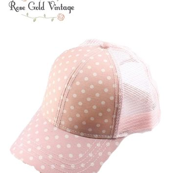 CC Polka Dot Baseball Hat - Pink
