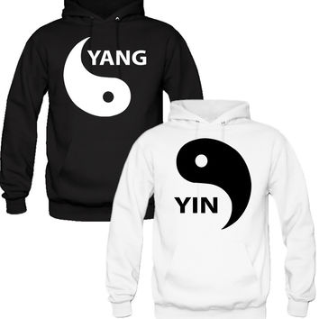 YIN YANG COUPLE HOODIES MATCHING COUPLE HOODIES BEST GIFT FOR BF AND GF