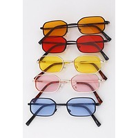 Color Tinted Thin Frame Sunglasses