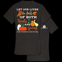 Southern Couture Preppy Thanks & Giving Fall T-Shirt