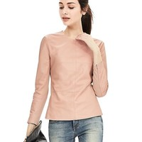 Banana Republic Blush Leather Top