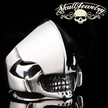 Badass Alien Hammer Head Stainless Steel Skull Ring - Alien Skull Ring (380)