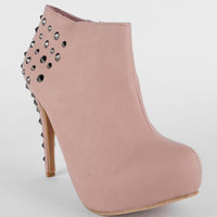 Magneto Studded Booties in Nude :: tobi
