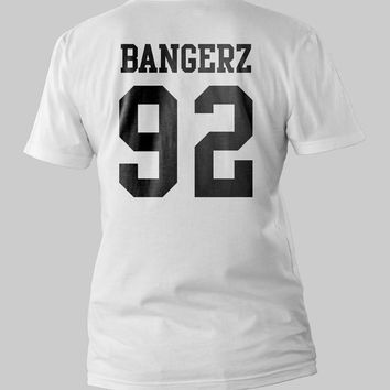 Miley Cyrus Bangerz 92 Music Tour Printed Back Black and White Shirt Men or Women Shirt Unisex Size