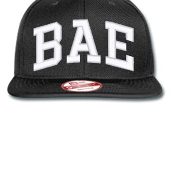 bae embroidery bucket hat - New Era Flat Bill Snapback Cap