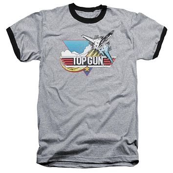 Mens Top Gun Take Off Ringer T-Shirt