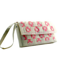 Duct Tape Clutch - Pink Polka Dot