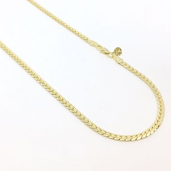 18K GL Curved Herringbone Chain