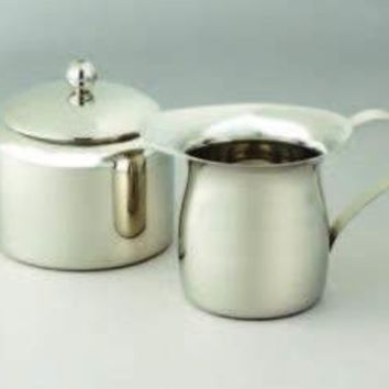 Elegance Sterling Silver Small Sugar and Creamer Set
