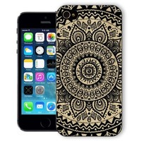 ChiChiC Iphone case,i phone 5c case,iphone 5c case,iphone5c covers, plastic cases back cover skin protector,geometric black mandala wood grain