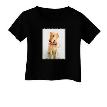 Golden Retriever Watercolor Infant T-Shirt Dark