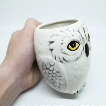 3D Harry Potter Hedwig Owl Ceramic Mug