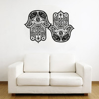 Wall Decal Vinyl Sticker Decals Art Decor Design Hamsa Hand Eye Indian Buddha Man Woman Mandala Ganesh Lotos Modern Bedroom Dorm (r298)