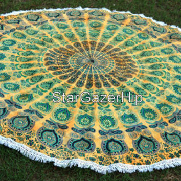 Roundie Mandala Tapestry Boho Wall Hanging Hippie Beach Throw Table Cloth VS234