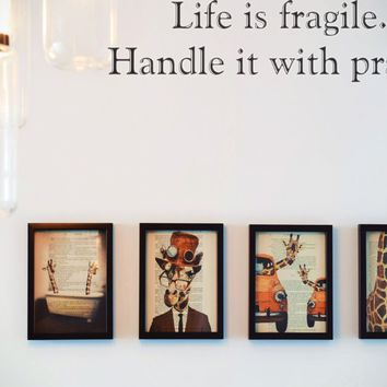 Life is fragile. Handle it with prayer Style 30 Vinyl Decal Sticker Removable
