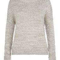 New Look Mobile | Teens Grey Textured Knitted Jumper
