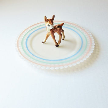 Vintage Bambi Fawn Deer Figurine Goebel Disney Porcelain Fall Autumn Winter Spring Collectible Animals Nature For Kids