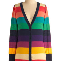 Greeting Rainbows Cardigan | Mod Retro Vintage Sweaters | ModCloth.com