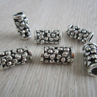 Free Shipping 5Pcs/Lot  tibetan silver hair dread dreadlock beads cuff clip  approx 5.2mm hole NO.08