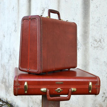 Vintage Luggage Set, Vintage Suitcase, Vintage Samsonite, Vintage Briefcase, Aviation Gifts, Antique Suitcase, Travel Decor, Mid Century Bag