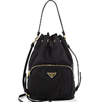 Prada - Tess Drawstring Nylon Pouch Crossbody Bag - Saks Fifth Avenue Mobile