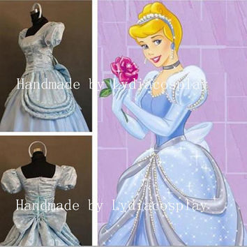 Handmade - Cinderella Dress, Cinderella Costume, Princess Cinderella Dress, Cinderella Dress Adult/kid, Cinderella Cosplay Costume Adult/Kid