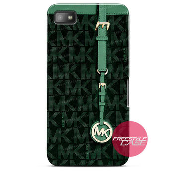 Michael Kors MK Bag Dark Green Blackberry Case Z10, Q10, Dakota Cover