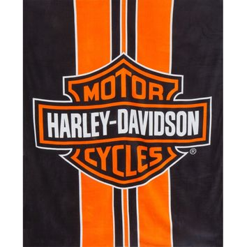 Harley Davidson - Logo & Racing Stripes Beach Towel