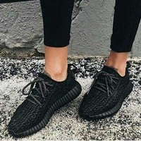 """Adidas"" Yeezy Women Men Black Trending Fashion Casual Women Yeezy Boost Sneakers Running Sports Shoes"