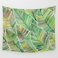 Tropical Green Wall Tapestry by Cat Coquillette