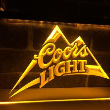 Coors Light Lite Beer LED Neon Light Sign Plate
