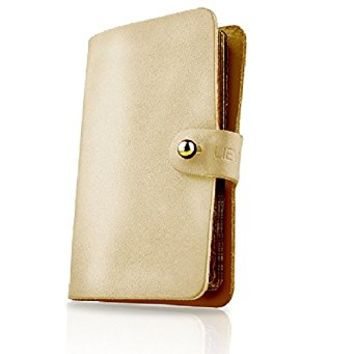 EASY-Genuine Italian Leather 19 Cards Smartcard Holder