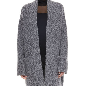 Diana Wool-Blend Sweater Coat, Size: