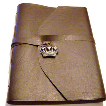 Brown Travel Journal with Charm