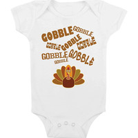 Gobble Gobble Baby Onesuit Thanksgiving For Baby  Funny Baby Onesuit Costume Thanksgiving Gift Baby Shower Gifts Newborn 6 months 18 months