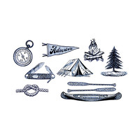 Tattly Camping Set Temporary Tattoos Multi One Size For Men 27334595701