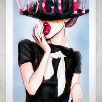 Frida Gustavsson Vogue Germany 8x11 Fashion Illustration Art Prints