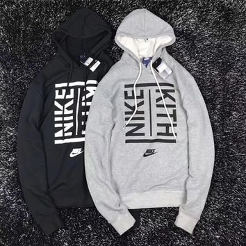 NIKE X KITH Women Fashion Drawstring Long Sleeve Top Sweater Pullover Hoodie