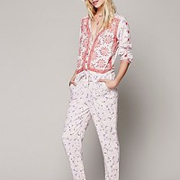 Free People Womens Adelia Embroidered One Piece - White