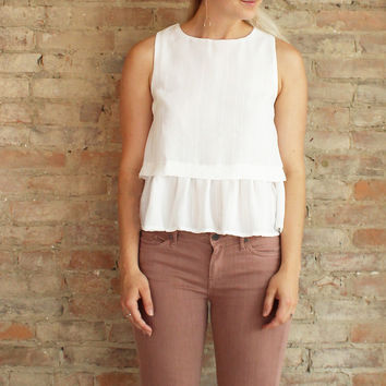 Colette Crop Top - white