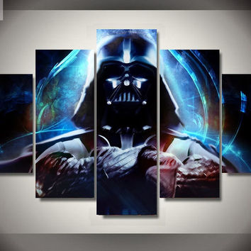 5 Panel Canvas Art  Star Wars Ship Pop Movie Art Prints Poster Abstract Wall Picture Canvas Painting No Frame Kids Room Decor