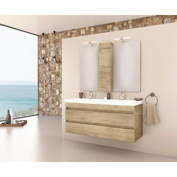 "DP Wall Bath Vanity Cabinet Set 47.2"" Double Sink W/ Laminated PL Wood Finish"