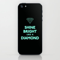 Shine Bright Like A Diamond Tiffany Mint Blue iPhone & iPod Skin by Rex Lambo | Society6